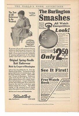Burlington Watch Co Chicago Advertisement Selfless 1914 Wison Bros Underwear Chicago