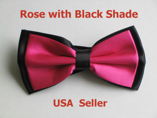 All Colors Men/'s Tuxedo Classic Bowtie Multi Style Neckwear Adjustable Bow Tie