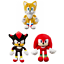 Sonic-The-Hedgehog-Large-Soft-Plush-Teddy-Toys-Figures miniature 1