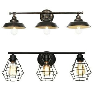 Details About Bathroom Vanity Light Wall Fixture Rustic Farmhouse Decor Oil Rubbed Bronze Usa