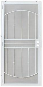 Image Is Loading Grisham 805 Series White Defender Security Door Reversible