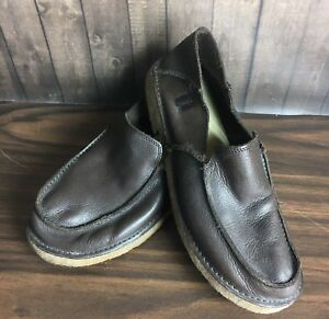 2f7860dc6a Hammock Dark Brown Leather Beach Casual Slip Ons Men's 12 Shoes PURE ...