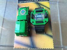 Transformers vintage ROBO Watch Wrist Green Truck 4WD (De Pilen)