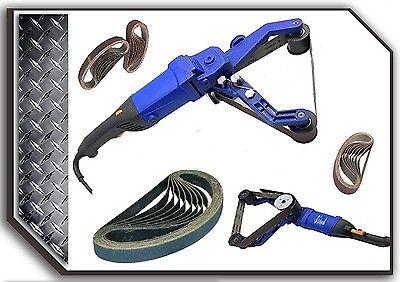 "100 Pieces 1 1//2/"" X 30/"" Alumina Grit 320 Belt Metabo hardin Pipe tube Polisher"
