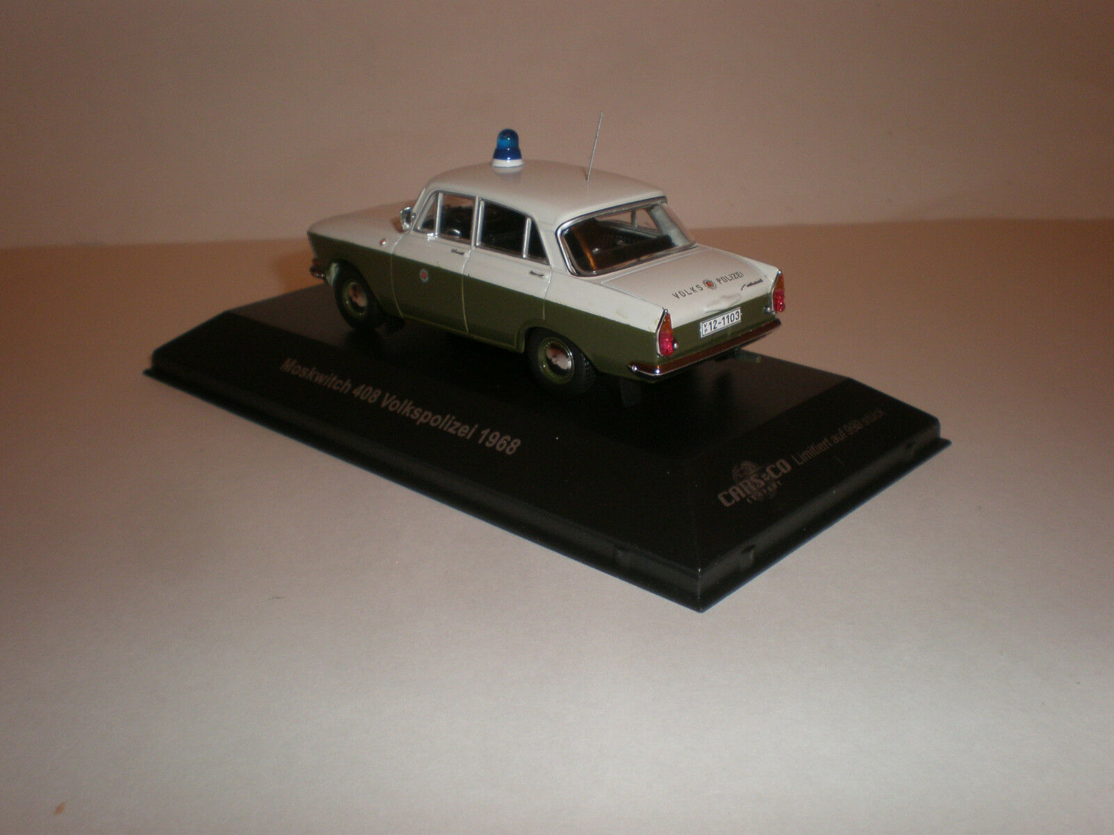 1 43 1968 Moskwitch 408 Volkspolizei German police Made Made Made by Cars & Co 2feed1