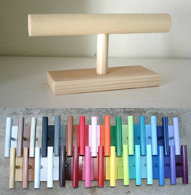 YOU PICK COLOR! Decor Wooden Bracelet Holder Jewelry Organizer Storage T Bar NEW