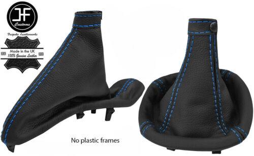 BLUE STITCH FITS ALFA ROMEO 147 FL 2004-2010 LEATHER SHIFTER EBRAKE BOOT