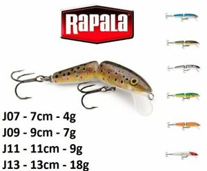 RAPALA-Jointed-Floating-Wood-Fishing-Lure-7cm-13cm-4g-18g-Various-Colours