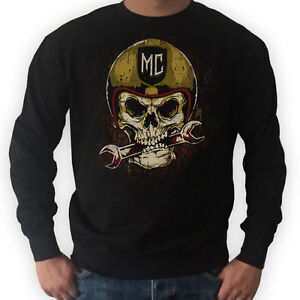 biker sweater skull motorrad rocker pullover bobber. Black Bedroom Furniture Sets. Home Design Ideas