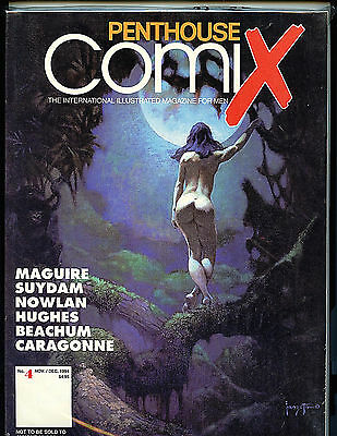 Penthouse Comix # 4 NM Condition New 1994 Frank Frazetta Cover H28