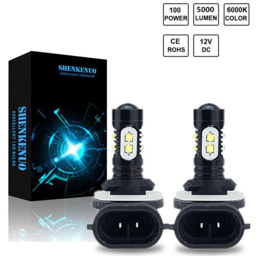 for 1993-2018 Polaris 50W Headlight LED Super White Bulbs Sportsman Ranger Razor
