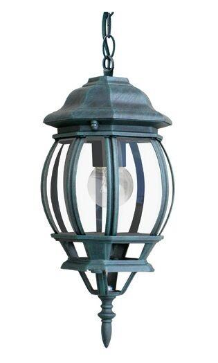 TYRESE LAMPADARIO SOSPENSIONE LANTERNA DA ESTERNO IN ALLUMINIO verde 40 WATT