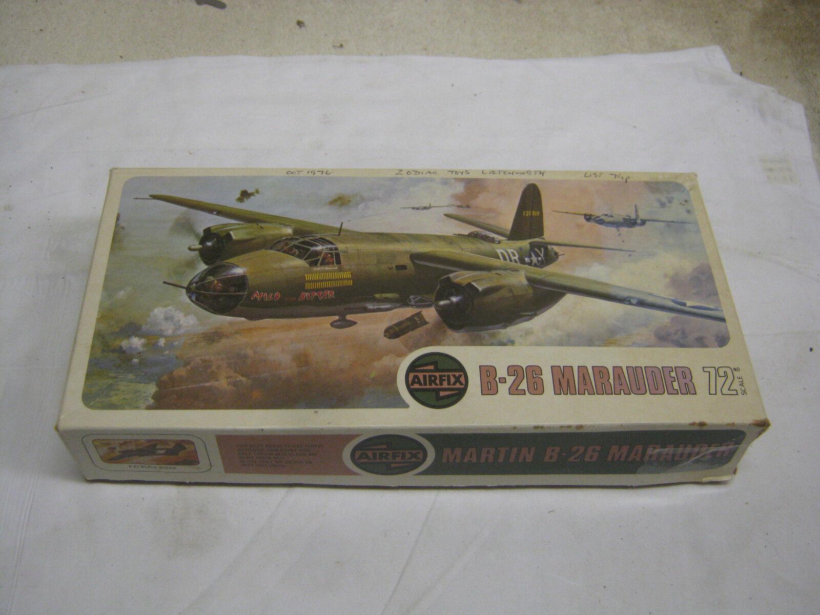 VINTAGE AIRFIX 1 72 B-26 MARAUDER WITH DISPLAY STAND KIT NO.495