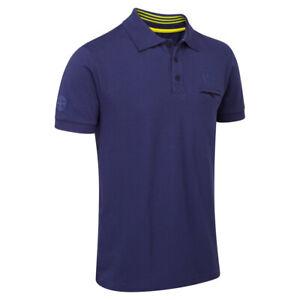 Lotus Cars Classic Homme Polo Shirt Bleu Foncé Manches Courtes 100% Coton-afficher Le Titre D'origine