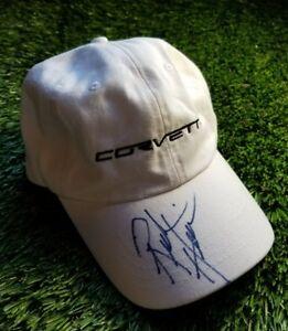 Strict Rick Hendrick Signed Corvette Autographed White Hat Jsa/coa S52678 Good For Energy And The Spleen Hats