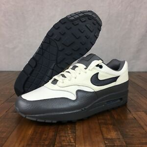 Details about Nike Air Max 1 Premium Shoes Sail Dark Obsidian Dark Grey 875844 100 Men Size 10