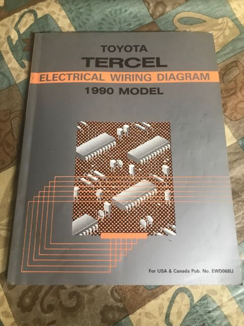 Toyota Tercel Electrical Wiring Diagram 1990 Model Shop Dealership Oem Service