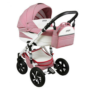 pepe combination pram 3 in 1 carry cot car seat buggy baby car new ebay. Black Bedroom Furniture Sets. Home Design Ideas