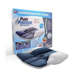 PURE-POSTURE-SUPPORT-SEAT-CUSHION-ORTHOPEDIC-BACK-PAIN-SCIATICA-FATIGUE-CUSHION