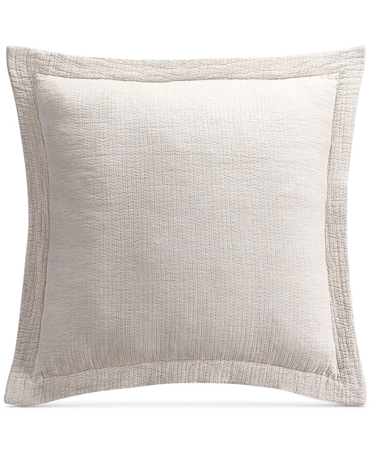 TWO Savannah Home Sakura Paisley Quilted Euro Pillow Shams Light Beige  200 NEW