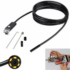 6LED 5.5mm HD Motorcycle Inspect Camera 5m Endoscope IP67 for OTG Android WinOS