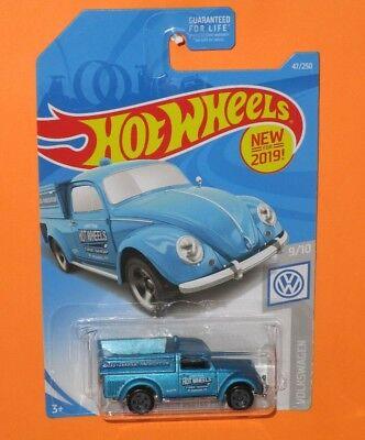 Lot of 2-2019 Hot Wheels '49 Volkswagen Beetle Pickup Truck Blue VW 1949