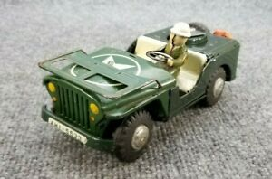 VINTAGE-1960s-TIN-LITHO-ANTI-AIR-CRAT-PATROL-JEEP-MADE-IN-JAPAN