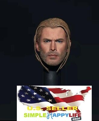 ELITE 1//6 Thor Braid Head Sculpt Thor 3 The Avengers for hot toys Phicen ❶USA❶