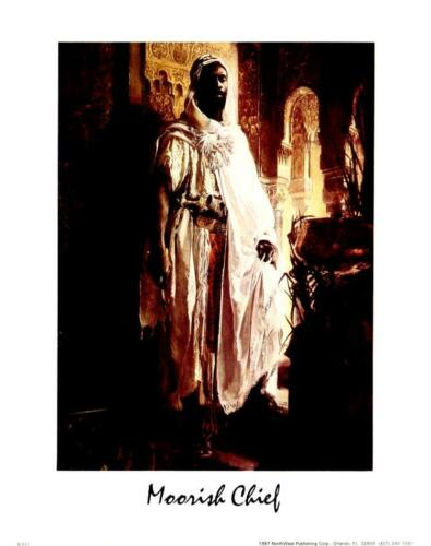 Beautiful 8x10 In African Theme Art Print Portrait of a Moorish Chief