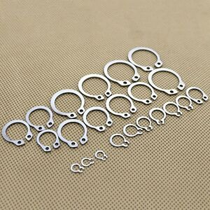 100pcs Snap Retaining Ring Circlip Assortment Set 11-21mm 6 Sizes with Box zg