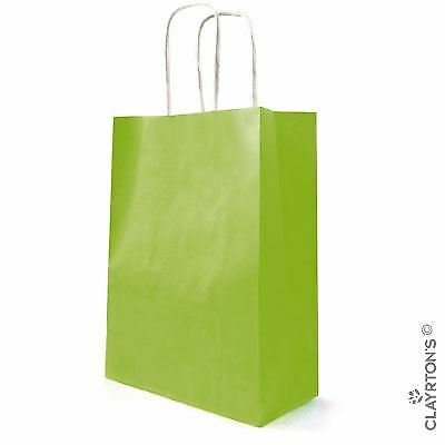 Medium 10 50 Small Large  Kraft Twist Handle Paper Carrier Bags All Colours