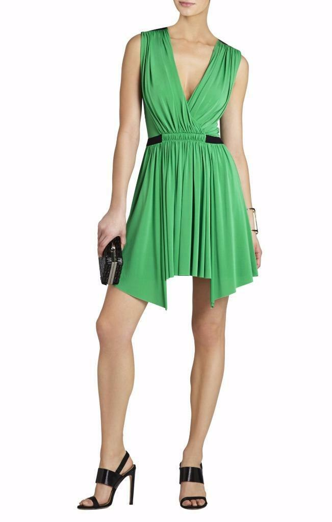 NEW AUTH BCBG MAXAZRIA Olyvia Sleeveless Wrap Dress  330