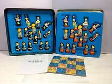 Simpsons Chess Set Collectors Tin Case, Homer, Marge, Bart, Lisa, Maggie, Krusty