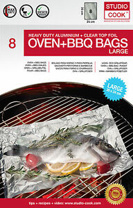 8 grillbeutel f r grill und ofen 24 x 35 cm 8 bbq bags bratbeutel grillen beutel ebay. Black Bedroom Furniture Sets. Home Design Ideas