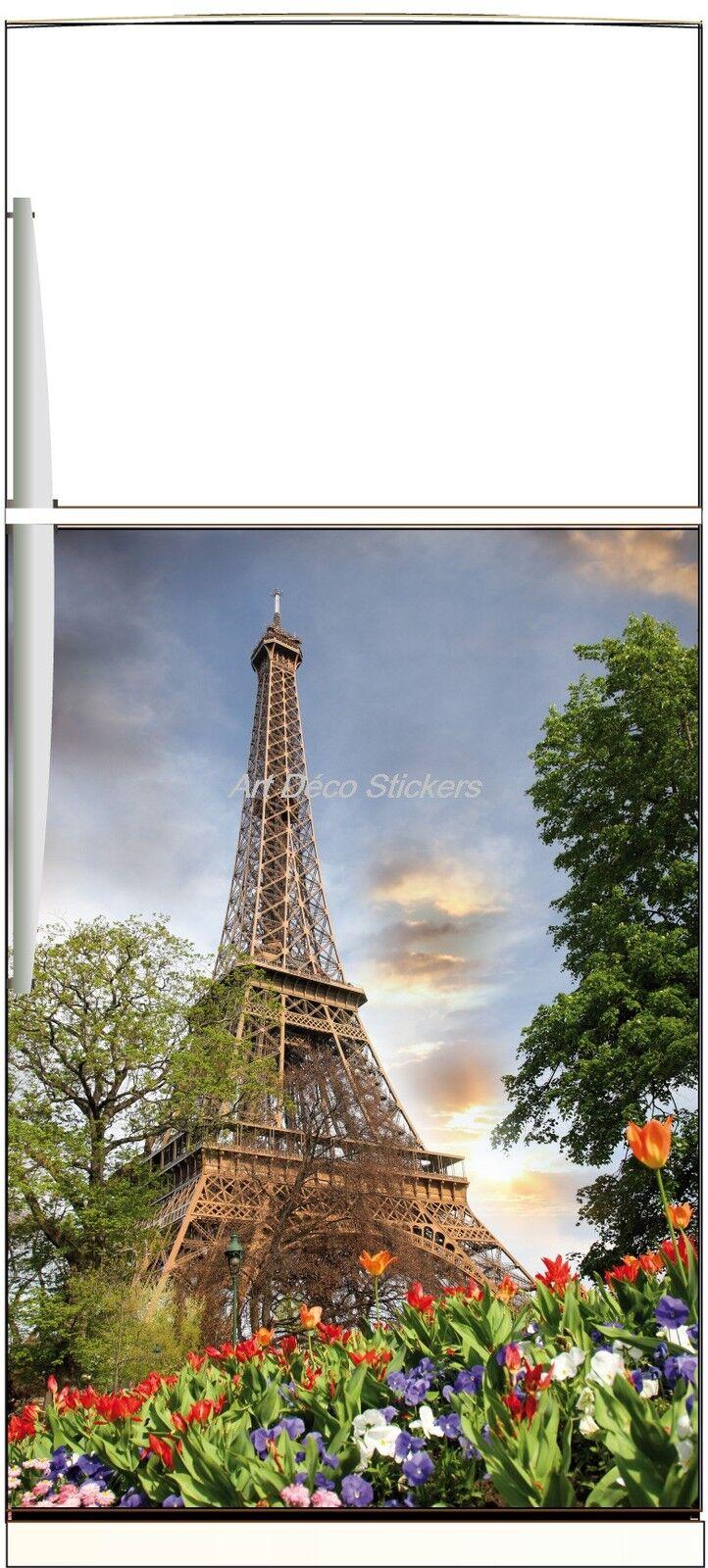 Adesivo Frigo Elettrodomestici Decocrazione Cucina Torre Eiffel 60x90cm Ref 301