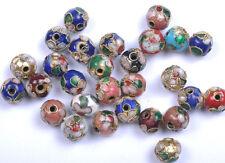 10PCS mixed color round Cloisonne spacer beads 10MM JK0076