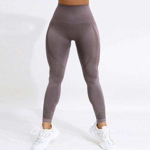 Seamless High Waist Yoga Leggings Women Workout Mesh Breathable Fitness Pants