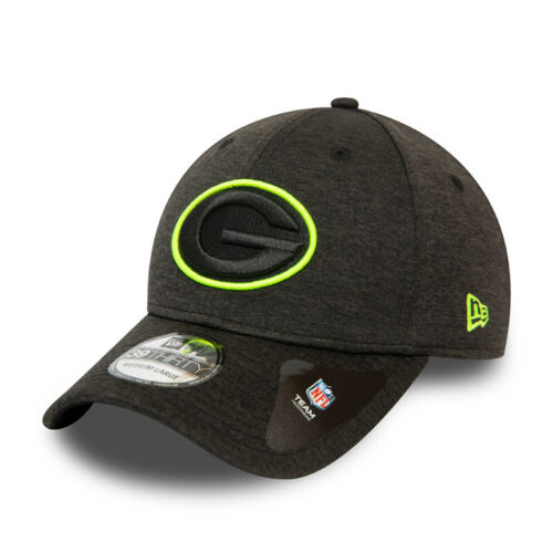 NEW ERA 39THIRTY BASEBALL CAP.GREEN BAY PACKERS SHADOW TECH NEON STRETCH HAT S20