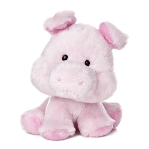 "6"" Pig Wobbly Bobblees Barnyard Farm Aurora Plush Stuffed Animal Toy 16404"