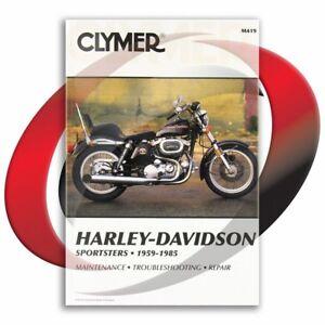 1983-1985-Harley-Davidson-XLX-Sportster-Repair-Manual-Clymer-M419-Service-Shop