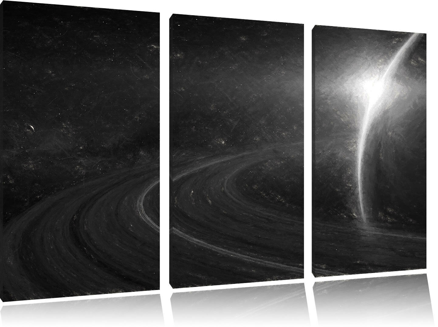 Kosmischer Kosmischer Kosmischer Planet Saturn Im Universo Arte Carbone Effetto 3-Teiler Quadro su Tel 36eed5