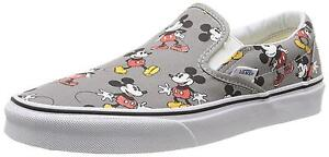 3b738e0fe9 VANS Disney Mickey Mouse Frost Grey Classic Slip on Size 10 Mens SNEAKERS