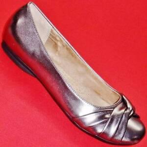 women's sonoma farrah pewter slip on ballet flats loafers