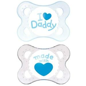 Estilo-MAM-Chupete-Bebe-recien-nacido-Suave-Seda-tetilla-ligero-de-0-2-meses-2-Paquete