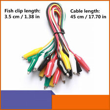 1050pcs Crocodile Alligator Clips Double Ended Wire Test Leads Jumper Cable