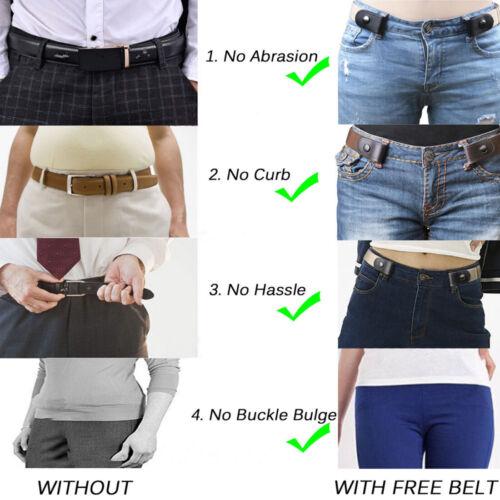 Damen Schnallenfreier elastischer Gürtel Unsichtbarer Gürtel für Jeans No Bulge