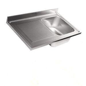 Lavello lavandino cucina inox appoggio da mobile cm 90 x 50 ala Sx ...