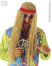 Mens Extra Long Blonde Hippy Wig With Headband Hippie Rasta 70'S Fancy Dress