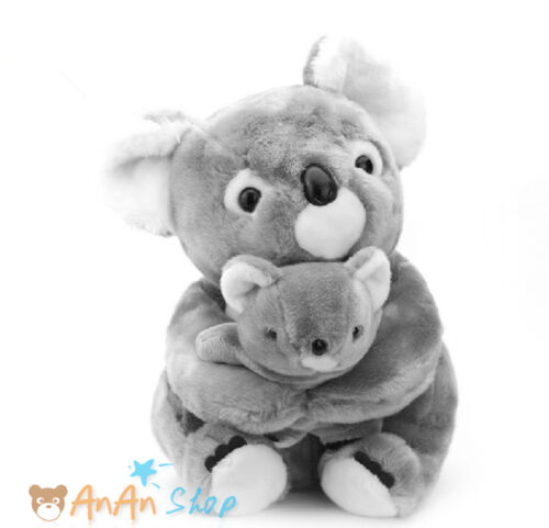 Cute 40cm Plush Mother and Child Koala Bear Stuffed Animal Doll Soft Toy Gift