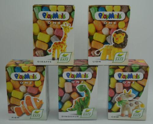 5 Boxen PlayMais-ONE (Giraffe, Löwe, Fisch, Dino, Kuh), ab 3 Jahre, OVP